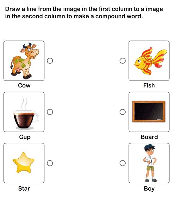 Compound Words Worksheet Kindergarten