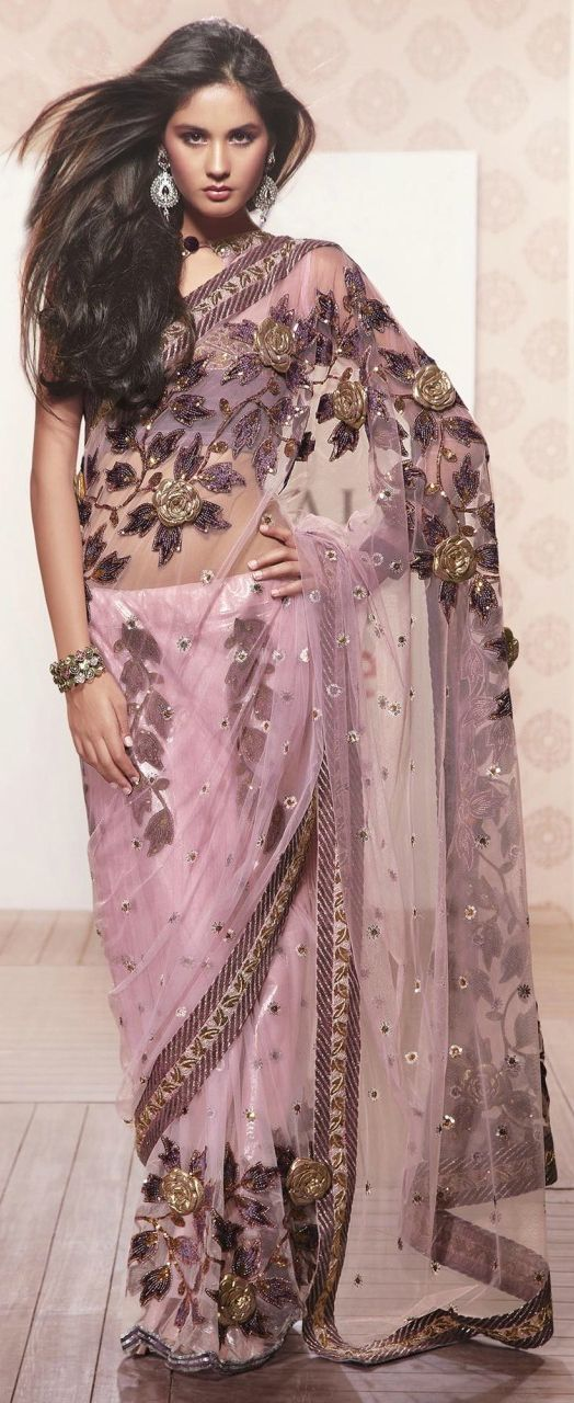 Purple-Pink Saree...gorgeous/ I love this. I want it also just to have