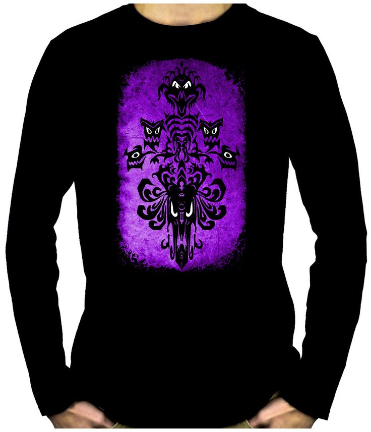 Haunted Mansion Wallpaper Ghoul Long Sleeve T-Shirt Gothic Alternative Clothing  #metalgirl #emogirl #goths #scene #deathrockgirl #gothgoth #alternativeclothing #rivethead #gothiclolita #vampiregirl
