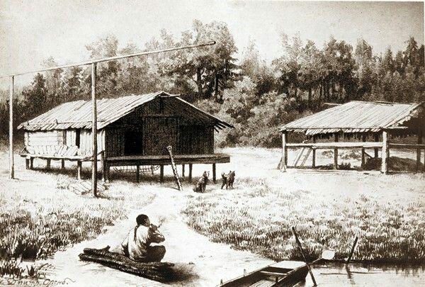 Традиционное жилье нивхов.