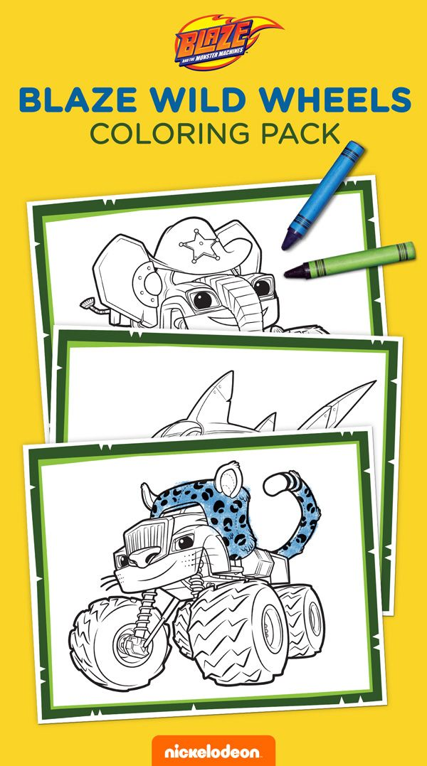 Blaze And The Monster Machines Printable Coloring Book 3 Monster Truck Coloring Pages Kids Printable Coloring Pages Monster Coloring Pages
