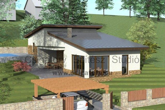 Nagykovácsi - lejtős telken - szinteltolásos családi ház - Csigaterv Építész Stúdió