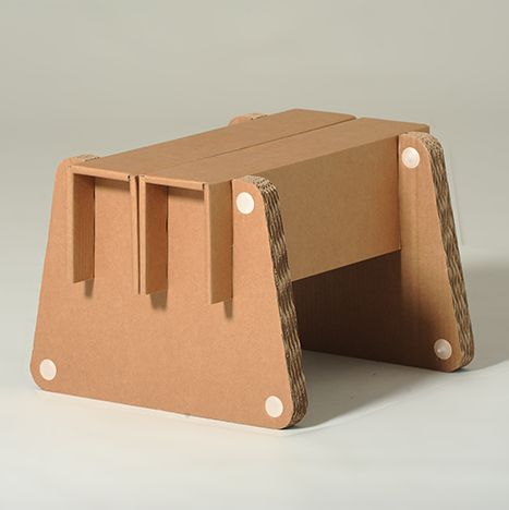 #Frank #Cardboard #Footstool - You can choose your favorite #colour - #eco #design for #home and #office - You can match the comfortable slatted cardboard footstool with the chair Anita, otherwise use it as a seat. Customizable with different colors. - http://eco-and-you.com/en/shop/frank/