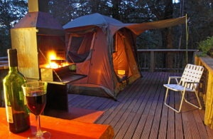 Knysna Forest Camping Deck at Diepwalle Forest Station