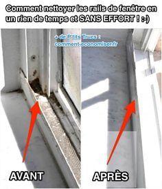 Comment Nettoyer les Rails de Fenêtre En Un Rien de Temps et SANS EFFORT !