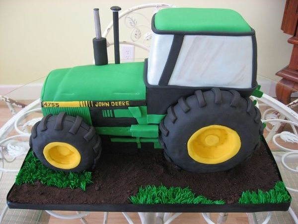 john deere tractor cake except make it pink :)