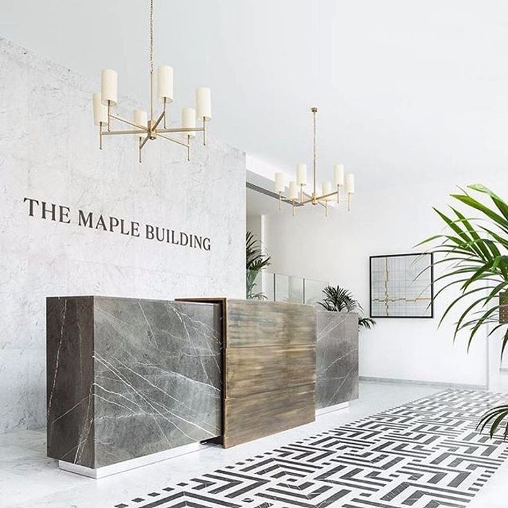 Image result for lobby with small reception desk
