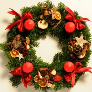 Typical Czech Advent wreath