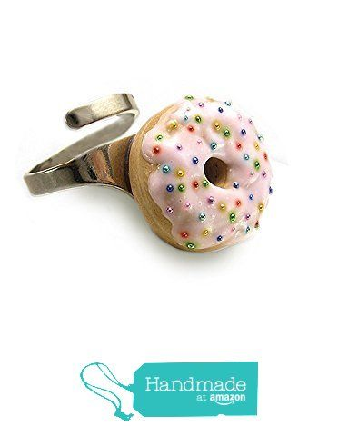 Pink Donut Ring ~ Food Jewelry from HugsKissesMINI http://www.amazon.com/dp/B015YC9W7U/ref=hnd_sw_r_pi_dp_1uyvwb1NGTFHE #handmadeatamazon