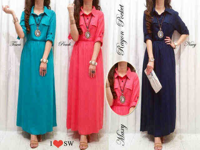 ws236.5 dress - IDR 90,000 - bahan katun rayon fit to L