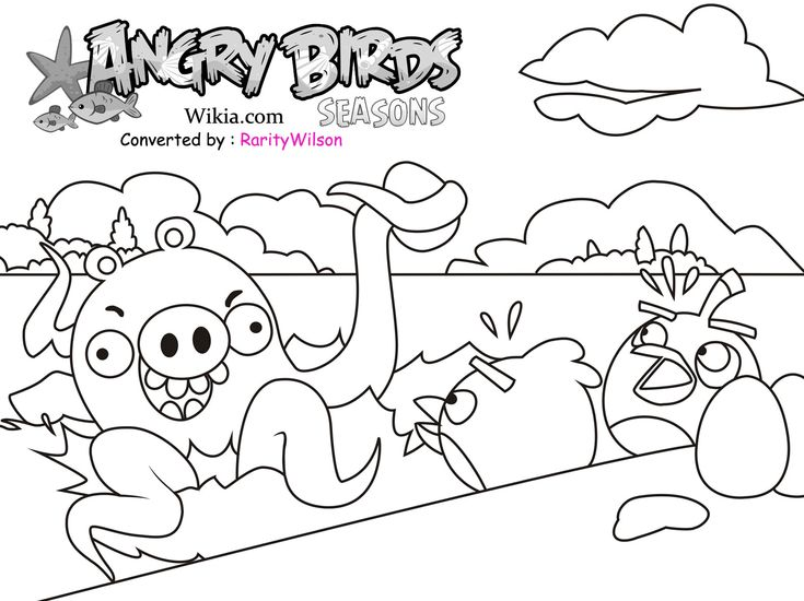 Angry Birds Rio Printables Season Coloring Pages
