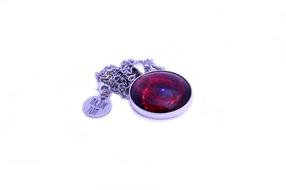 Astronomy Necklace - Cat's Eye Nebula - Red Glass Cabochon Pendant - Photo Jewellery - Outer Space & Science https://www.etsy.com/nz/shop/MajorTomJewellery