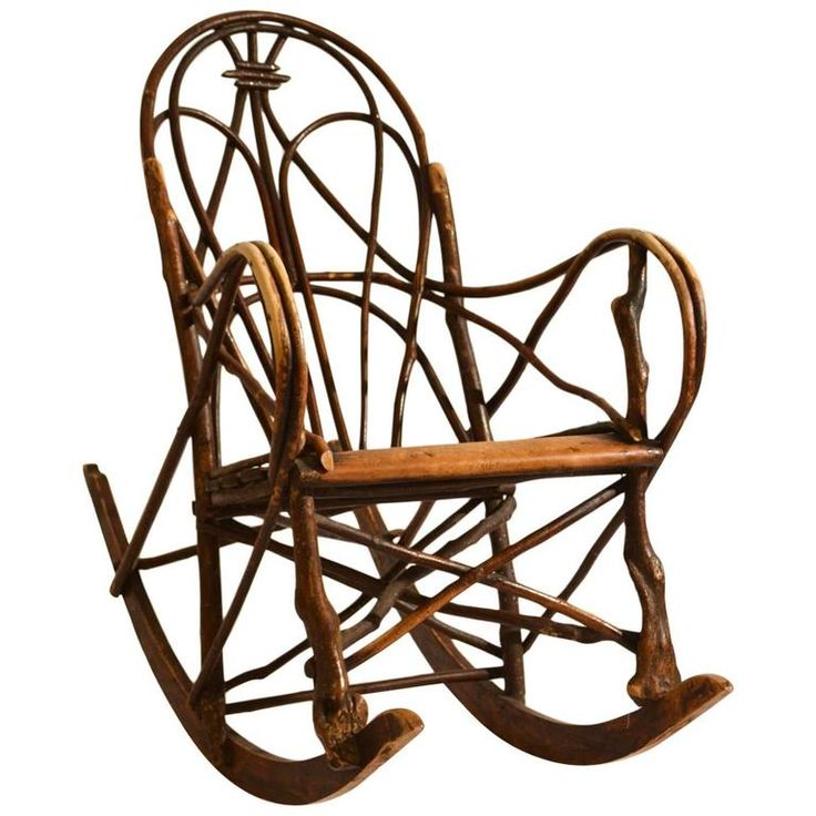 Early 20th Century Scandinavian Rocking Chair Bent Wood Willow | From a unique collection of antique and modern rocking chairs at https://www.1stdibs.com/furniture/seating/rocking-chairs/