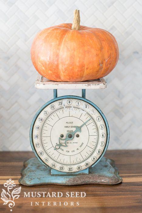 Got pumpkin?  Railroad Towne Antique Mall, 319 W. 3rd St, Grand Island, NE, 308-398-2222 has vintage food scales.