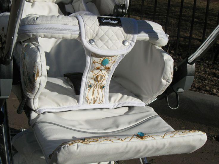 Роспись с инкрустацией детской коляски в дар (Москва). Дару~дар