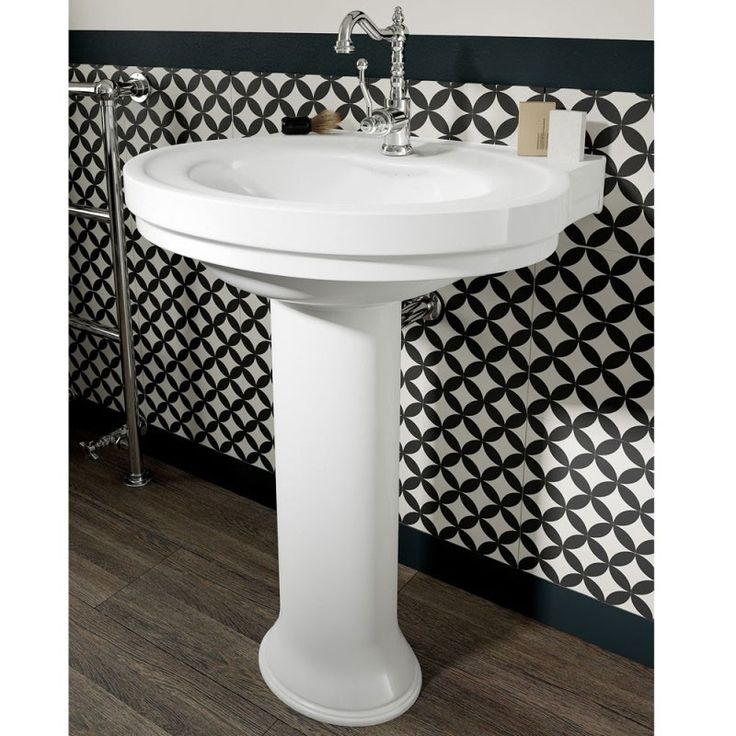 Add some beauty to your new Better Bathroom with our Sorento White Ceramic Pedestal Basin (1 tap hole). This amazing rounded style is sure to add elegance to your decor, and in addition to its style, it is beautifully crafted from a durable and hard-weari