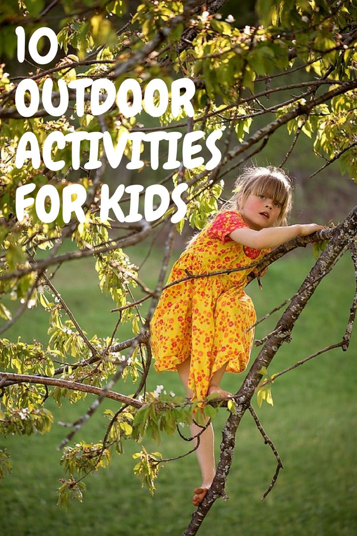 Come and take a look at these 10 outdoor activities for kids! These activities are fun and FREE! Your children will love them