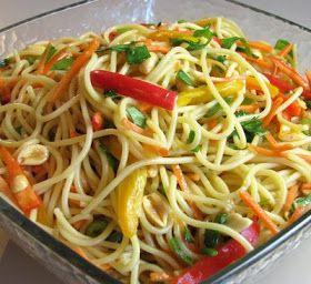 Asian Noodle Salad vegan recipe : http://vegetarian-dojo.blogspot.ro/2012/05/asian-noodle-salad.html?m=1