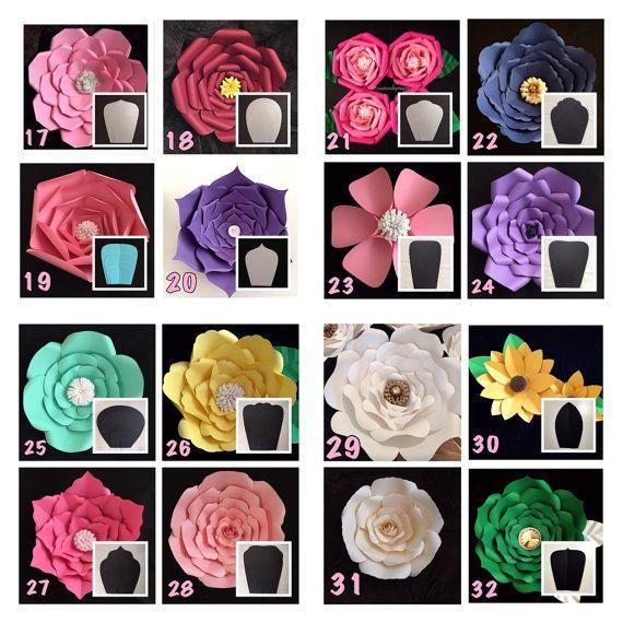 Plantilla de flor de papel de copia flores por CreationsByMayra08