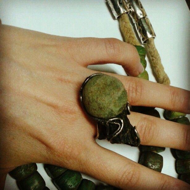 Daidalos roma black silver 925 made in italy! Ring