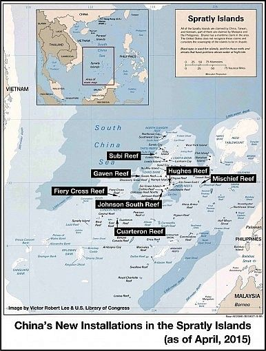 Spratlys  http://thediplomat.com/2015/04/south-china-sea-chinas-unprecedented-spratlys-building-program/