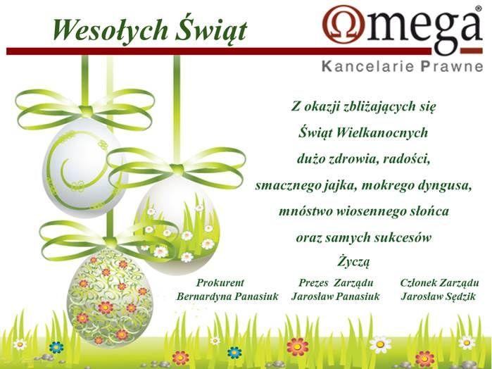 Radosnych świąt życzą Omega Kancelarie Prawne!