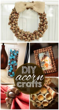 Acorn Crafts for Adults   Acorn Fall Wreath – Beautiful wreath made out of all acorns and a ...
