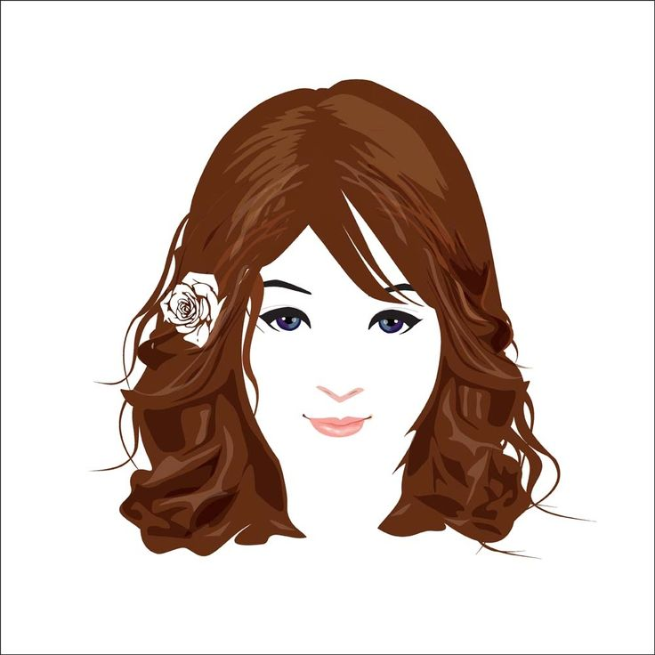 beautiful face vector 2 concept designed in a simple way so it can be used for multiple purposes i.e. logo ,mark ,symbol or icon.
