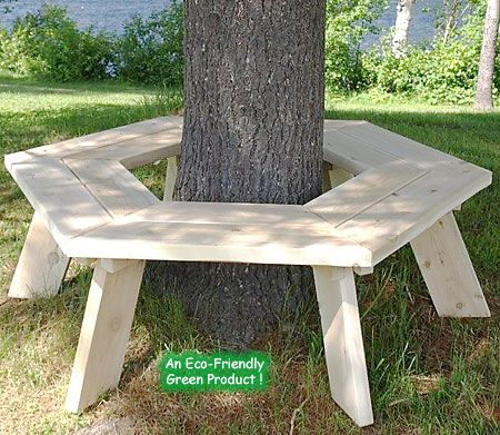 Plans For Bench Around Tree Woodworking Projects Plans