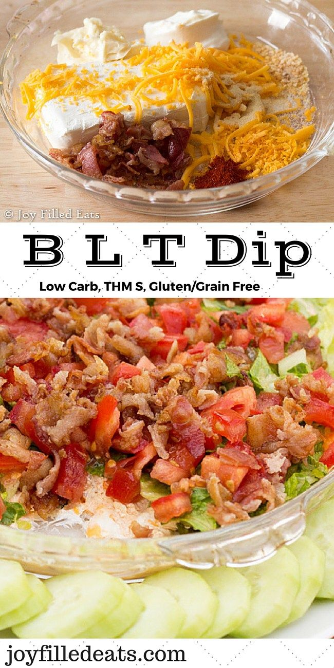 BLT Dip – Low Carb, Gluten Free, THM S