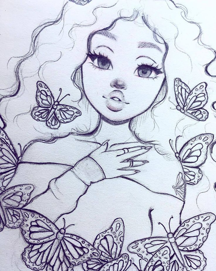 girl drawings coloring pages - photo#46