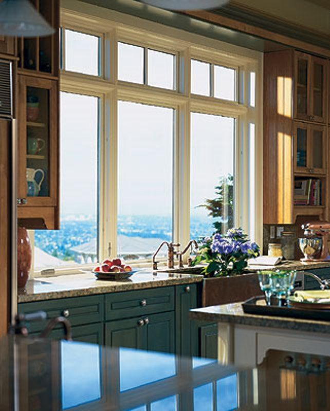 Imagine looking out these windows while cooking something up in the kitchen. Pella wood windows will give your kitchen a high end classic look. www.pellanorcal.com