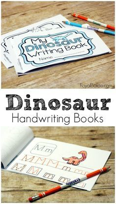 Learn, or practice, handwriting skills with these fun and simply dinosaur handwriting books!