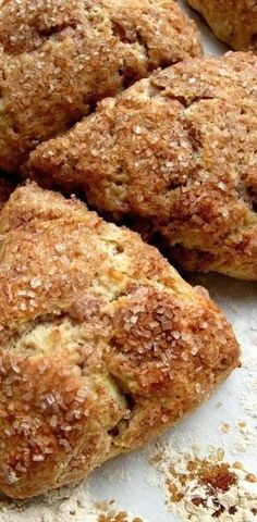 Fresh Apple Cinnamon Scones - Flourish - King Arthur Flour - includes instructions on how to make the scones ahead and freeze them