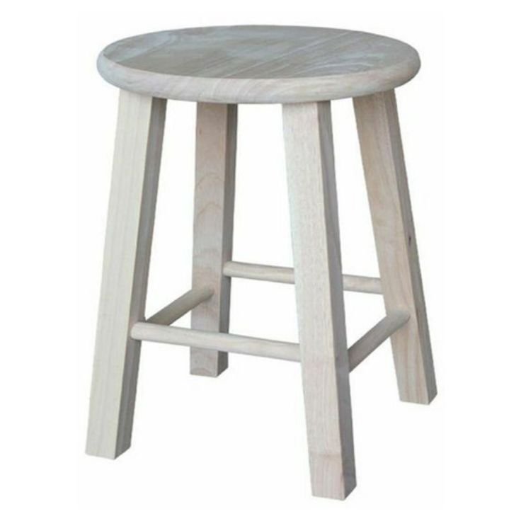 International Concepts Unfinished Utility Round Dining Stool - 1S-518
