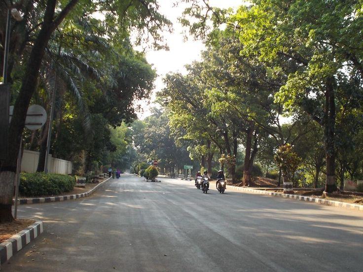 A road in Pancasila Sakti Monument complex, Lubang Buaya, Jakarta.