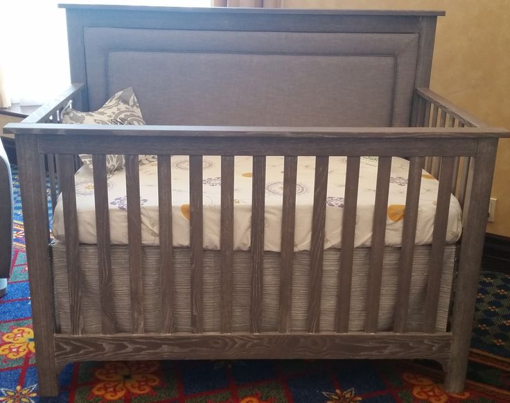 Distressed Gray Crib With Optional Upholstered Panel. Great For A Rustic  Nursery!   Available