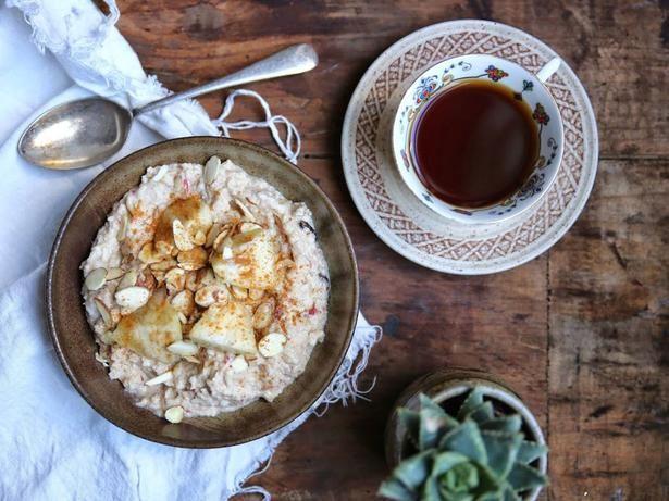 Spiced Feijoa and Apple Brown Rice Bircher Recipe - Viva