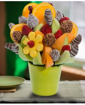 Orange you Glad Were Friends Blossom? scent free fruit bouquet are great for all occasions and make great gifts ideas or decorations from a proud Canadian Company. Great alternative to traditional flowers or fruit baskets