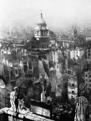 WWII London Blitz. September 1940 - May 1941 the German Luftwaffe mercilessly bombed Britain's civilians. 40,000 were killed, more than half of them in London.