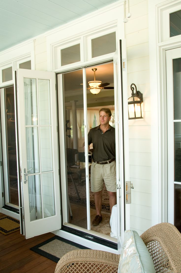 Custom Retractable Screens For Outswing French Doors