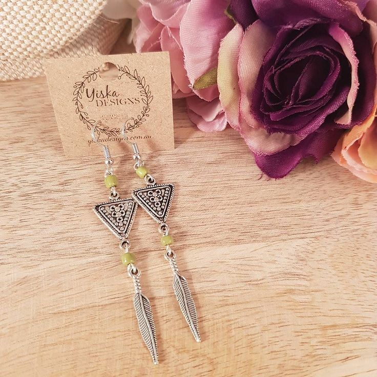 Hello Summer days!  these light and bright long dangle earrings are the perfect accessory for a hot day like today  #handmadejewelry #handmade #bohostyle #bohochic #festivalfashion #summerstyle #shopsmall #etsyshop