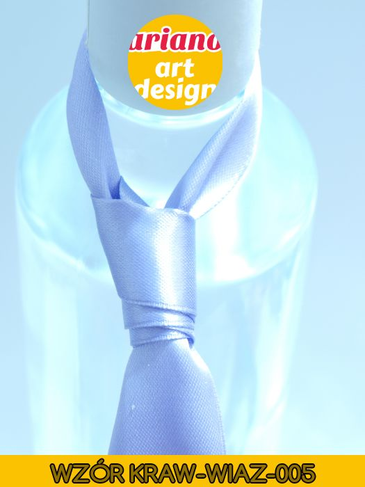 Krawat na butelkę wiązany, wódkę 5 szt zawieszki weselne PL - wzór węzła 005