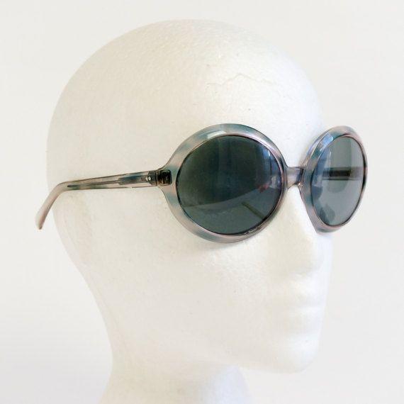 Vintage 1970s Womens Sunglasses / 70s Italian by AttysVintage