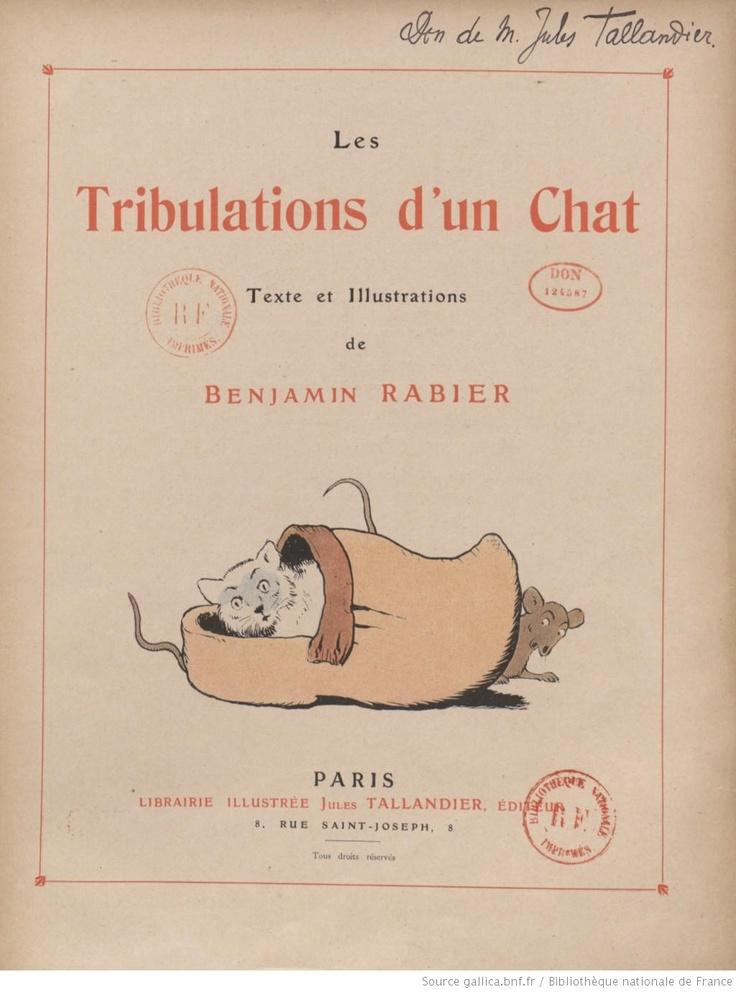 Les Tribulations d'un chat, texte et illustrations de