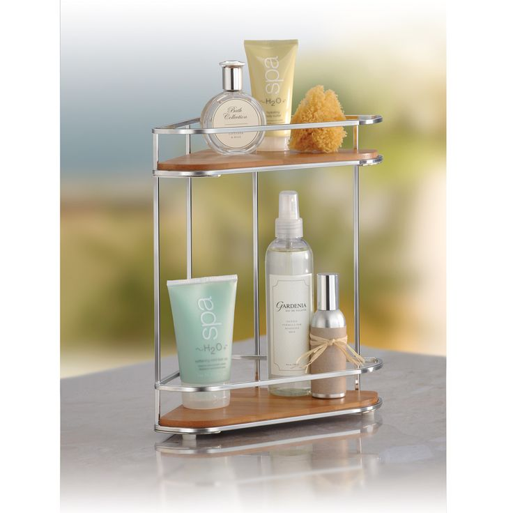Bamboo Corner Two Shelf Organizer | Lynk LK 630100DS · Bathroom Counter ...