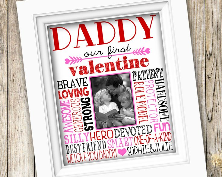 Valentine's Day Gift for Dad ~ Daddy Valentine's Day ~ Printable Valentine Gift From Kids ~ Gift for Dad Gift from Daughters ~ JPEG File by SubwayStyle on Etsy