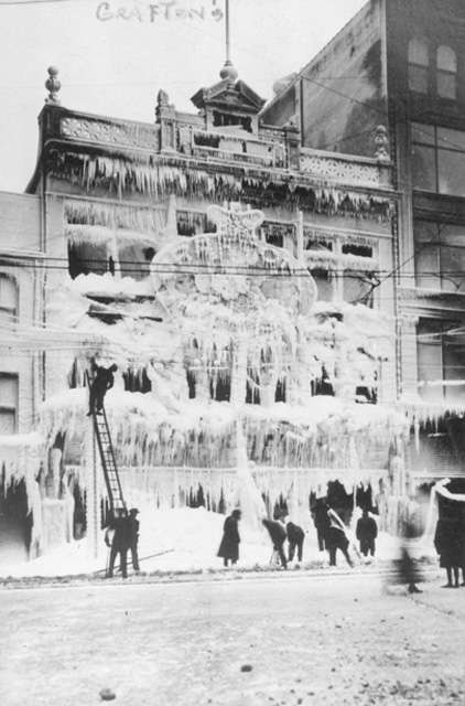 Fire at the Grafton building February 1917