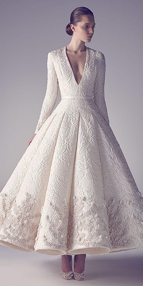 Casual Brown Winter Wedding Dress – fashion dresses