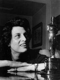 Anna Magnani with her Oscar for The Rose Tattoo - one of three plays Tennessee Williams wrote expressly for her.